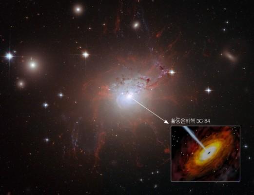 초대질량블랙홀 뿜어내는 강력한 불꽃으로 먼 우주 거리 측정한다