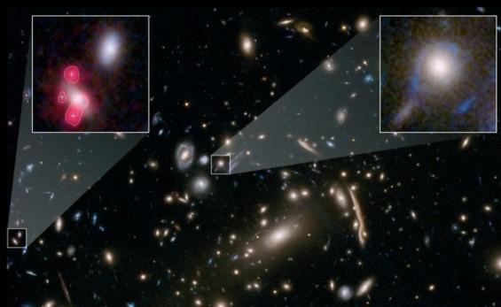 강력한 중력렌즈 현상 포착, 표준우주모형 바뀔까