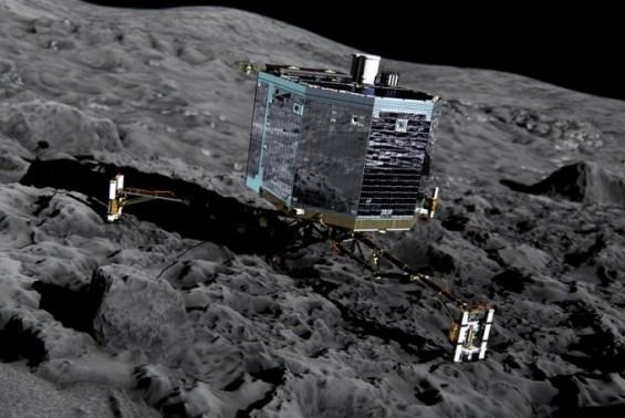 혜성 위 굴렀던 탐사선