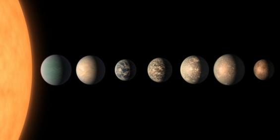 """지구에서 가까운 '트라피스트-1' 지구형 행성 7개 """"밀도 놀랍도록 비슷해"""""""
