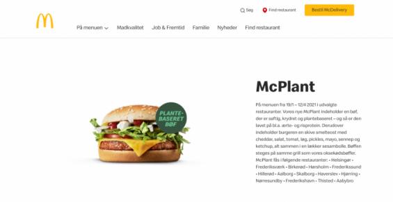 버거킹에 '임파서블 와퍼' 있다면 맥도날드엔 '맥플랜트' 있다