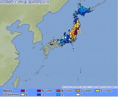 日 후쿠시마 앞바다 7.3 강진은 10년전 동일본 대지진 여진(종합)