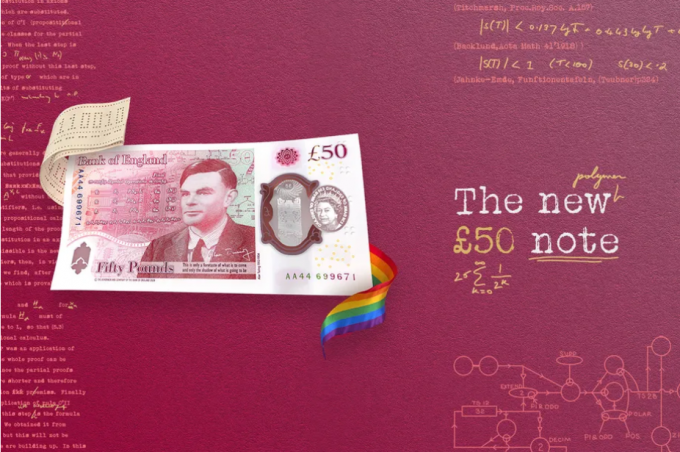 컴퓨터 과학 선구자 앨런 튜링, 호킹 제치고 영국 50파운드 새 지폐 주인공