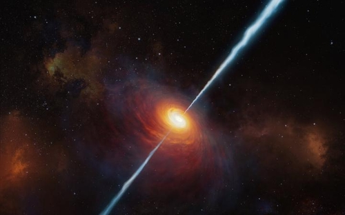 약 130억 광년 밖 초기 우주서 제트 내뿜는 퀘이사 관측