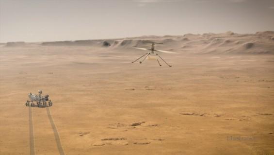 화성 하늘에 첫 헬기가 뜬다