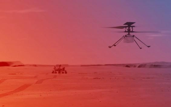 11일 화성 하늘에 첫 헬기 뜬다