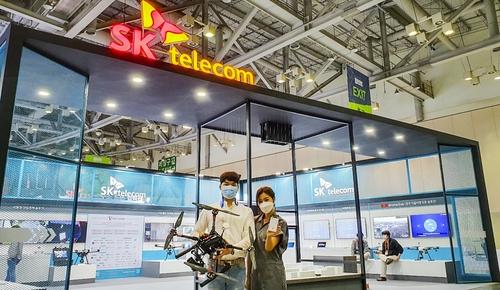 SKT, 드론쇼 코리아에서 5G 드론 관제 솔루션 공개
