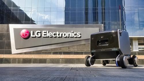 LG전자, 실내외 자유롭게 이동하는 통합배송로봇 공개