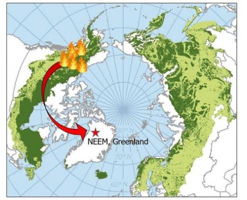 북미 대형산불로 인한 부산물, 그린란드까지 날아갔다