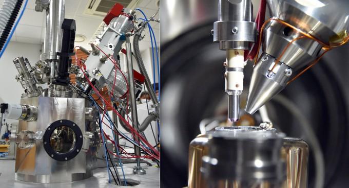 한국기초과학지원연구원이 개발한 기체클러스터 이온빔 장치 시제품의 모습이다. 기초지원연 제공
