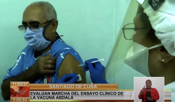 쿠바 현지에서 코로나19 백신 ′압달라′가 접종되고 있다. 위키미디어 제공.