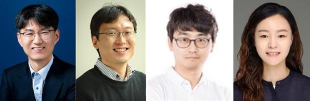 왼쪽부터 김경중 GIST 교수(과제책임자), 김승준 교수, 홍진혁 교수, 송은성 교수. GIST 제공.