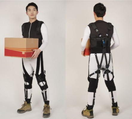 무거운 물체 부상 없이 들어올린다...스쿼트 정자세 돕는 입는 로봇옷 개발
