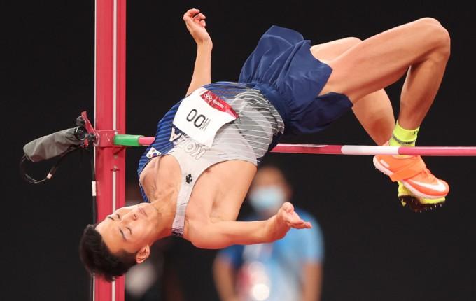 2020도쿄올림픽 남자 높이뛰기 우상혁의 키는 188㎝로 높이뛰기 선수 중에는 작은 편이다. 연합뉴스 제공
