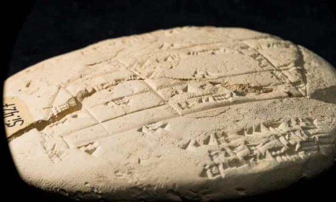 3700년 전 제작된 것으로 추정되는 고대 바빌로니아의 점토판 ′Si.427′의 모습이다. 뉴사우스웨일스대 제공