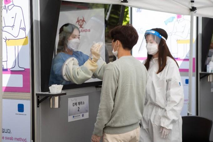 서울대에서 운영 중인 신속 PCR 검사 전경. 서울대 제공