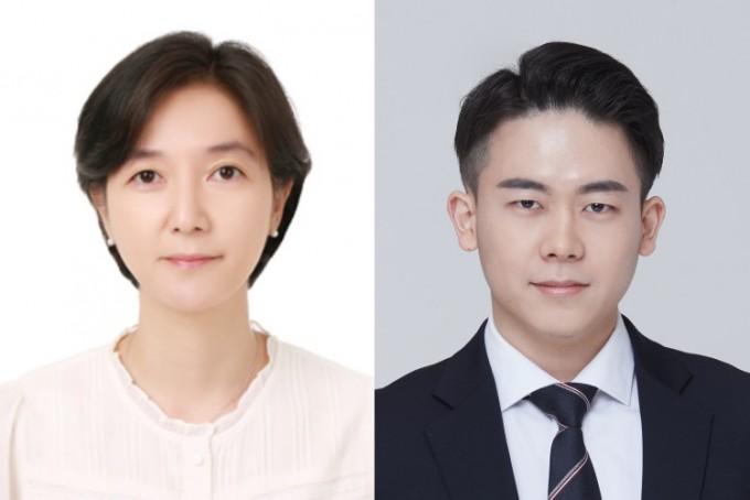 이수정 GIST 교수(왼쪽)와 졸업생 오상현씨. GIST 제공.