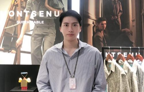 폐플라스틱을 재활용한 친환경 원단으로 '대통령의 넥타이'를 만든 박준범 몽세누 대표는 우아한 패션을 통해 환경과 공존하는 미래를 그리고 있다.  몽세누 제공