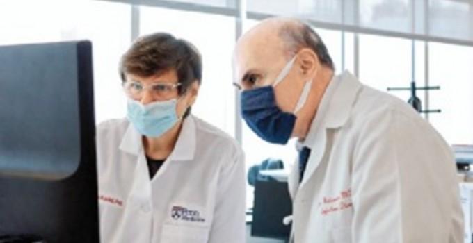 화이자-바이오엔테크와 모더나의 백신 개발의 핵심적인 기술을 개발한 커털린 커리코 바이오앤테크 수석부사장(왼쪽)과 드루 와이스먼 펜실베니아대 의대 교수. 펜실베니아대 의대 제공
