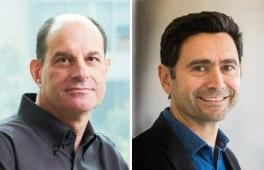 2021 노벨 생리의학상 수상자인 데이비드 줄리어스 미국 샌프란시스코 캘리포니아대 생리학과 교수(왼쪽), 아뎀 파타푸티언 미국 스크립스연구소 신경과학과 교수. 캘리포니아대· 스크립스연구소 제공