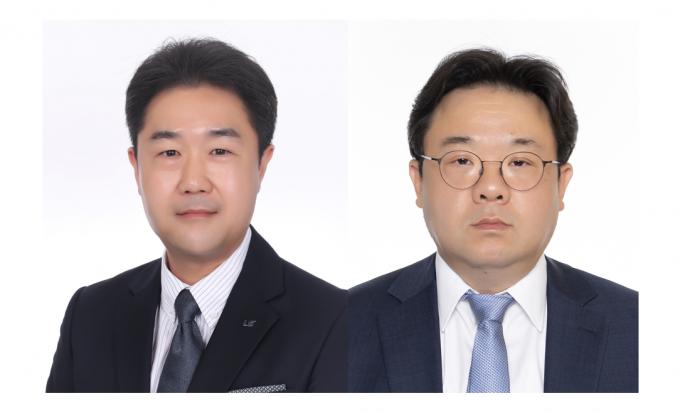 대한민국 엔지니어상′ 10월 수상자로 선정된 박우진(왼쪽) 엘에스일렉트릭 시니어매니저와 박신전(오른쪽) 케이엠티엘 연구소장. 과기정통부 제공